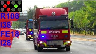 4X hovedstadens beredskab ST.H DRUKNEULYKKE brandbil i udrykning Feuerwehr auf Einsatzfahrt 緊急走行 消防車