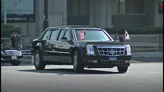 パトカー緊急走行【71】2017年 トランプ大統領訪日 財務省上交差での車列【Japanese Police car】