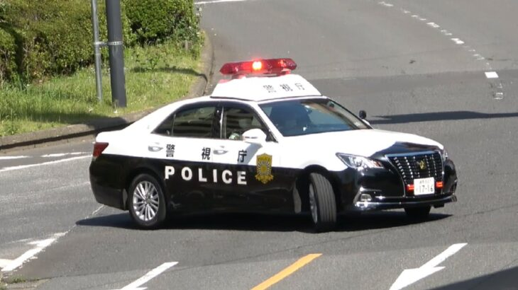 踏切出口の一通を逆走・殺人事件発生でパトカー・覆面が緊急走行・薬物所持で現行犯逮捕・自動車警ら隊が容疑者を連行・強引な割り込みにクラクション・金魚のフン走行・マークXが覆面に変身・白バイの目の前で歩行