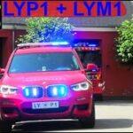 beredskab øst falck ST.LY BRAND INDUSTRI brandbil i udrykning Feuerwehr auf Einsatzfahrt 緊急走行 消防車