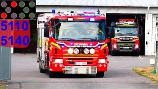 räddningstänsten storgöteborg KUNGSBACKA TRAFIKOLYCKA brandbil i utryckning 緊急走行 消防車