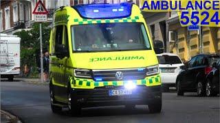 region midtjylland ÅRHUS AMBULANCE 5524  i udrykning rettungsdienst auf Einsatzfahrt 緊急走行 救急車