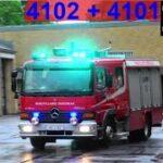 tordenbyge udløser 3 X ABA I ÅLBORG nordjyllands beredskab brandbil i udrykning 緊急走行 消防車