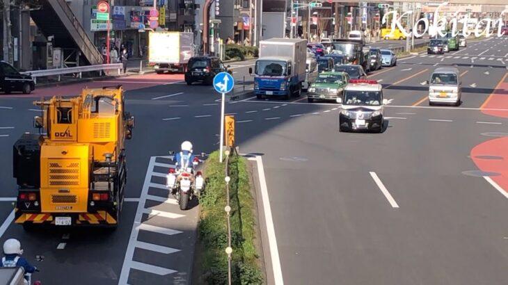 [サイレン] 青山通りを快走する渋谷署のミニパト!