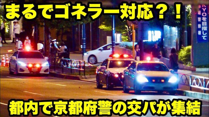 【まるでゴネラー対応の交パ集結の図】都内で京都府警の交機パトカーが集結!