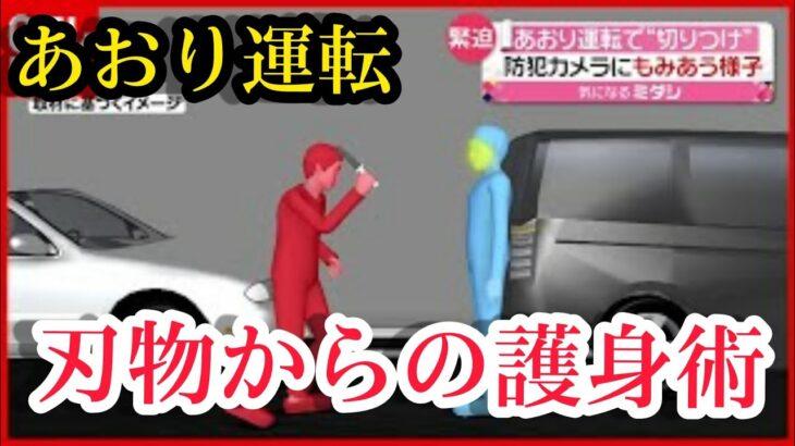 対あおり運転護身術!あおり運転で凶刃がナイフを出してきた時の対処法