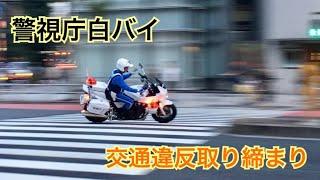 【サイレン音注意】警視庁白バイ 緊急走行