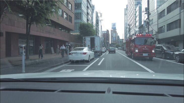 【緊急走行】【音量注意】現場へ全力全速で走る消防車 響き渡るサイレン・クラクション・怒号