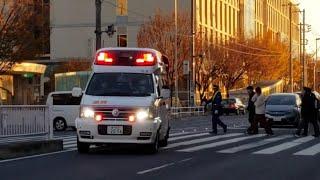 【連携プレイ】警備員ナイス判断! 緊急走行する救急車と警備員、歩行者全員が協力して救急車を通す! 横浜消防 日吉救急