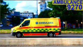 västra götalandregionen AMBULANS 9270 i göteborg utryckning rettungsdienst auf Einsatzfahrt 緊急走行 救急車