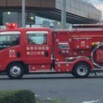 緊急走行!緊走する筑西市消防団第20分団