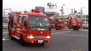 消防車緊急走行【225】堺市高石市消防組合 旭ヶ丘梯子付きタンク&ポンプ【Japanese fire enjine】
