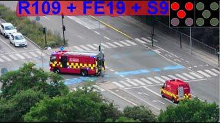 AIRVIEW hovedstadens beredskab ST.FB ABA PLEJEHJEM brandbil i udrykning fire truck respond 緊急走行 消防車