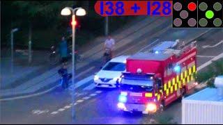 AIRVIEW hovedstadens beredskab ST.H BRAND LEJLIGHED brandbil i udrykning fire truck respond 緊急走行 消防車