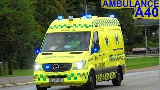 FALCK I TÅSTRUP AMBULANCE A40 i udrykning rettungsdienst auf Einsatzfahrt 緊急走行 救急車