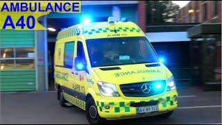 falck TÅSTRUP AMBULANCE A40 i udrykning rettungsdienst auf Einsatzfahrt 緊急走行 救急車