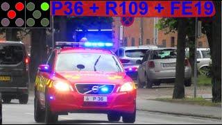 hovedstadens beredskab ST.FB + GH BRAND INDUSTRI brandbil i udrykning fire truck respond 緊急走行 消防車