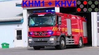 lejre brandvæsen ST.KH ABA SKOLE brandbil i udrykning Feuerwehr auf Einsatzfahrt 緊急走行 消防車