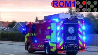 roskilde brandvæsen ABA PLEJEHJEM brandbil i udrykning Feuerwehr auf Einsatzfahrt 緊急走行 消防車