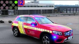 sydvestjysk brandvæsen VARDE ABA brandbil i udrykning Feuerwehr auf Einsatzfahrt 緊急走行 消防車