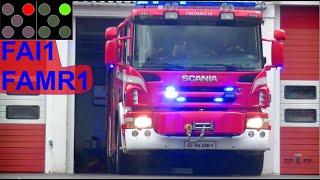 trekantbrand ST.FA ABA ERHVERV brandbil i udrykning Feuerwehr auf Einsatzfahrt 緊急走行 消防車