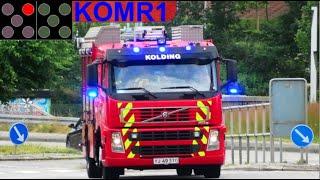 trekantbrand falck ST.KO ABA BEBOELSE brandbil i udrykning Feuerwehr auf Einsatzfahrt 緊急走行 消防車