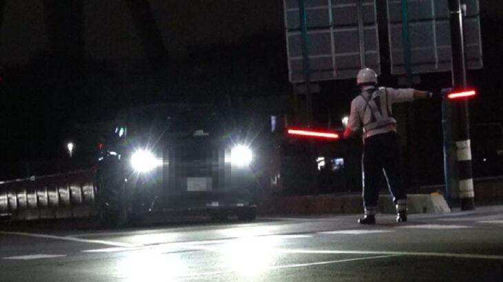 これがセーフか…という停止係のお巡りさんの心の声が聞こえてきそうな速度違反取締り!後ろだけ無灯火のスクーターをそのまま走らせて良いんですかね…