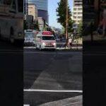 岡山市消防局の救急車が緊急走行!