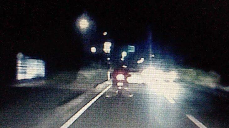 岩手 紫波ー花巻 大型バイクの煽り運転 変なダウンライトでした 注意喚起
