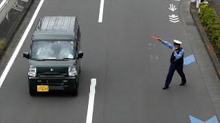 やる気マンマンの警察官による信号無視の取締りでまさかの展開が・・・【交通違反取締り】