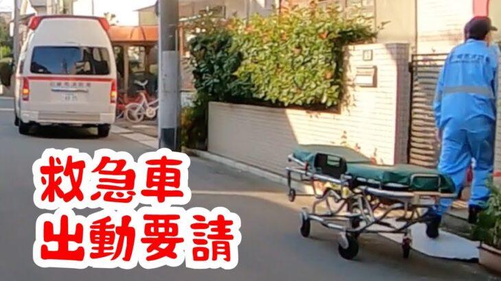 [日本の救急車] 緊急走行へと切り替わる瞬間の救急車