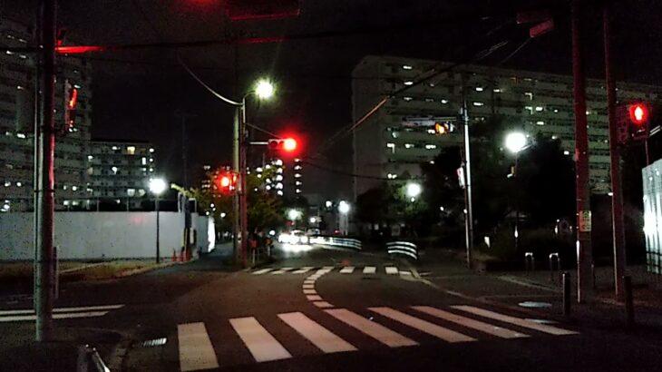 「高層建物火災事案」大阪府警察平野警察署パトカー 緊急走行(現着)